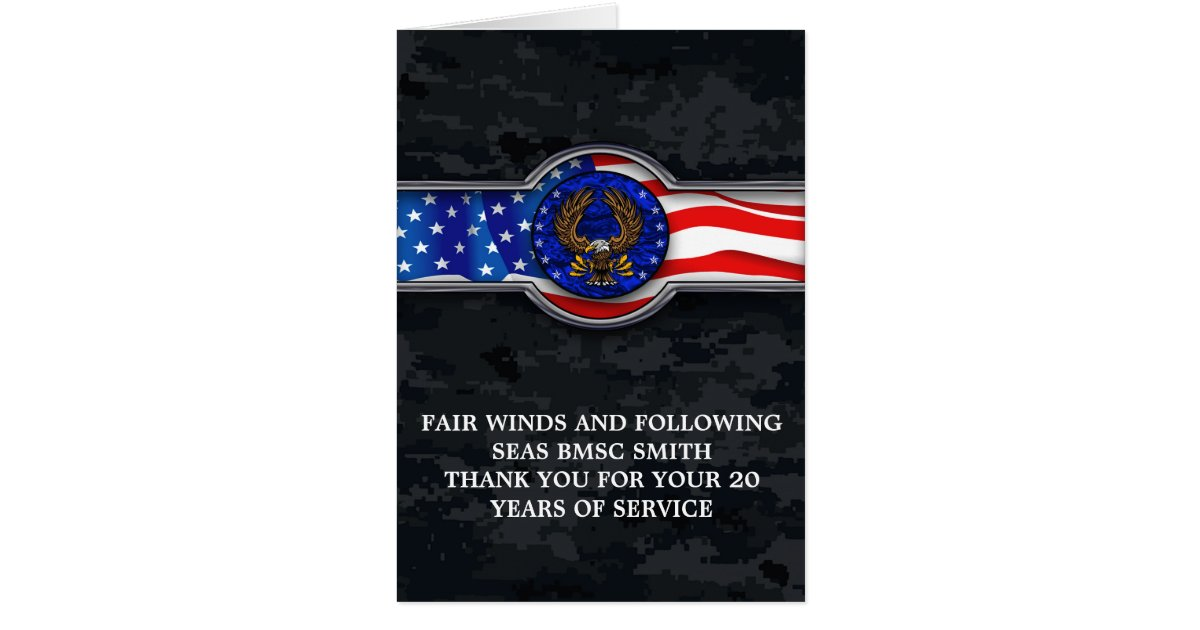 FAIR WINDS AND FOLLOWING SEAS RETIREMENT CARD | Zazzle.com