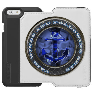 Fair Winds & Fallowing Seas Anchor iPhone 6/6s Wallet Case