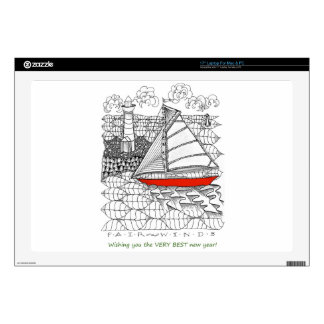 Fair Winds Sailors Prayer Style Decal For Laptop