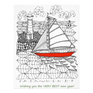 Fair Winds Sailors Prayer Style Letterhead