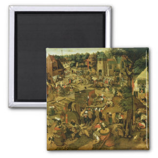 Fair with a Theatrical Performance, 1562 Magnet