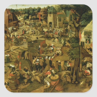 Fair with a Theatrical Performance, 1562 Square Sticker