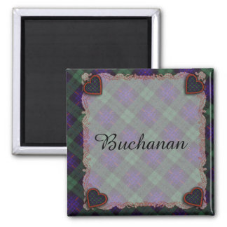 Fairbairn clan Plaid Scottish kilt tartan 2 Inch Square Magnet
