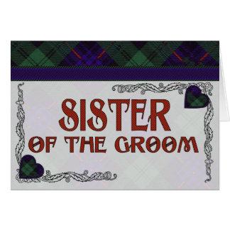 Fairbairn clan Plaid Scottish kilt tartan Card