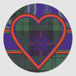 Fairbairn clan Plaid Scottish kilt tartan Classic Round Sticker