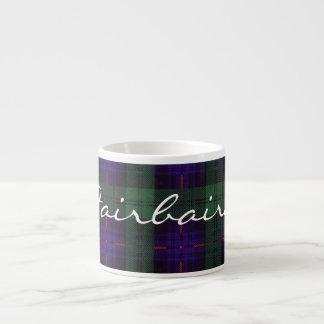 Fairbairn clan Plaid Scottish kilt tartan Espresso Cup