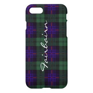 Fairbairn clan Plaid Scottish kilt tartan iPhone 8/7 Case