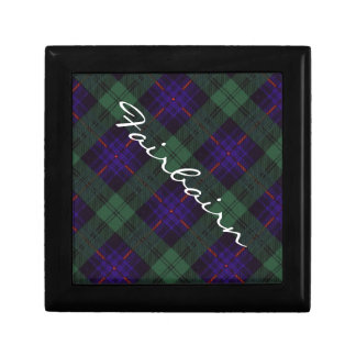 Fairbairn clan Plaid Scottish kilt tartan Jewelry Box