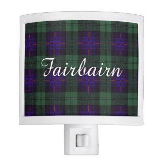 Fairbairn clan Plaid Scottish kilt tartan Night Light
