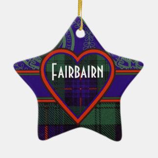 Fairbairn clan Plaid Scottish kilt tartan Double-Sided Star Ceramic Christmas Ornament