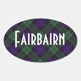 Fairbairn clan Plaid Scottish kilt tartan Oval Sticker