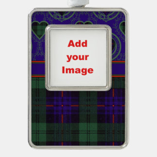 Fairbairn clan Plaid Scottish kilt tartan Silver Plated Framed Ornament