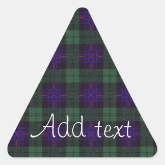 Fairbairn clan Plaid Scottish kilt tartan Triangle Sticker