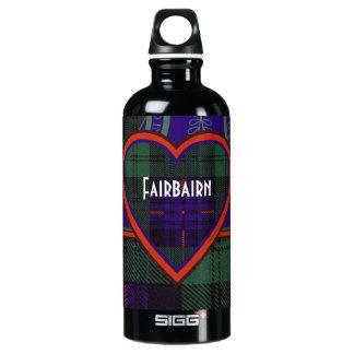 Fairbairn clan Plaid Scottish kilt tartan Water Bottle