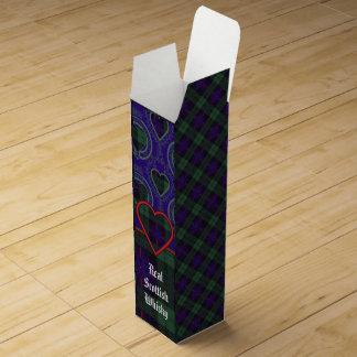 Fairbairn clan Plaid Scottish kilt tartan Wine Gift Box