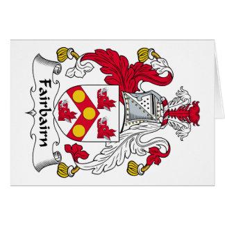 Fairbairn Family Crest Card