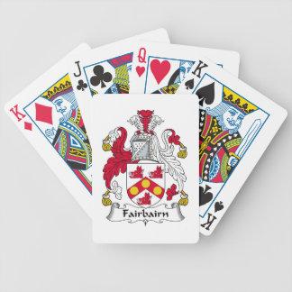 Fairbairn Family Crest Poker Cards
