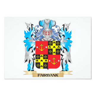 Fairbank Coat of Arms - Family Crest 5x7 Paper Invitation Card