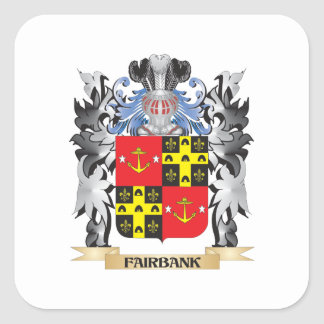 Fairbank Coat of Arms - Family Crest Square Sticker