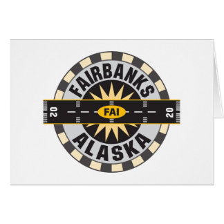Fairbanks AK FAI Airport Greeting Card