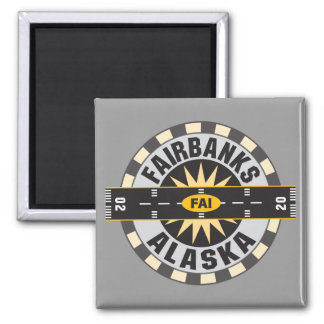 Fairbanks, AK FAI  Airport Refrigerator Magnet