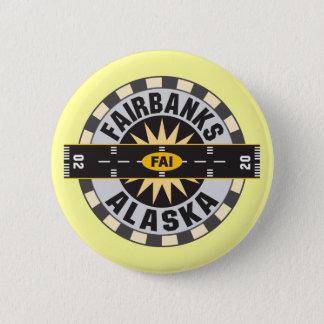 Fairbanks, AK FAI  Airport Pinback Button