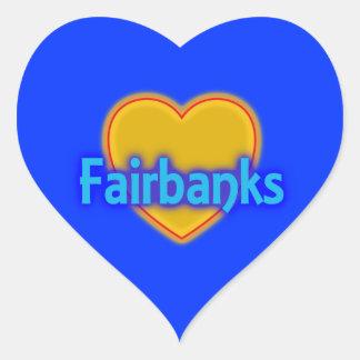 Fairbanks AK  Golden Heart City Glow Travel stick Heart Sticker