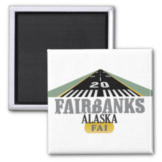 Fairbanks Alaska - Airport Runway Fridge Magnets