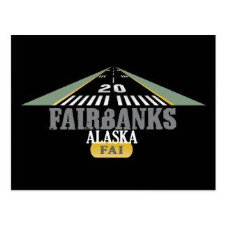 Fairbanks Alaska - Airport Runway Post Cards