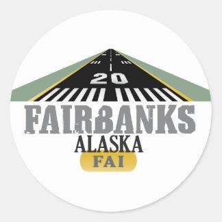 Fairbanks Alaska - Airport Runway Stickers