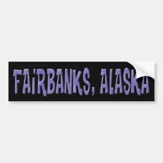 FAIRBANKS, ALASKA CAR BUMPER STICKER