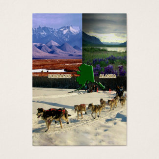 Fairbanks, Alaska Collage Business Card