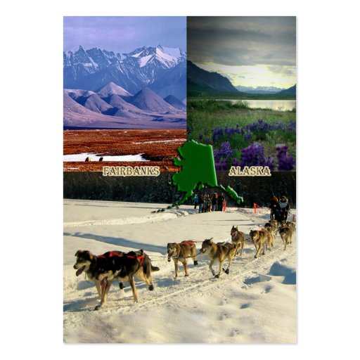 Fairbanks, Alaska Collage Large Business Cards (Pack Of 100)