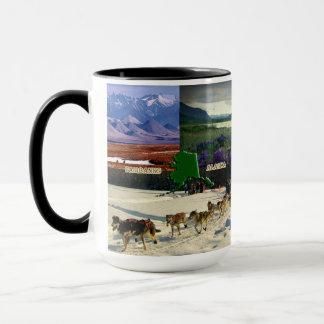 Fairbanks, Alaska Collage Mug