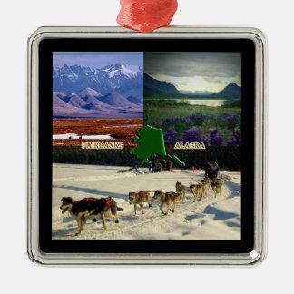 Fairbanks, Alaska Collage Christmas Ornaments