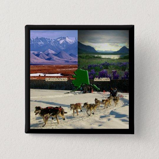 Fairbanks, Alaska Collage Pinback Button