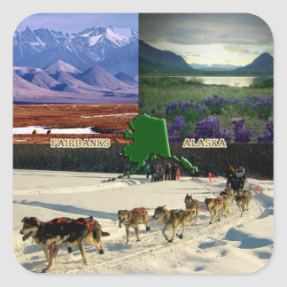 Fairbanks, Alaska Collage Stickers