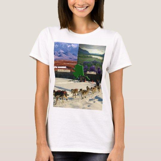 Fairbanks, Alaska Collage T-Shirt