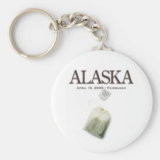 Fairbanks Alaska Tea Party Keychain