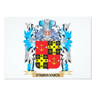 Fairbanks Coat of Arms - Family Crest 5x7 Paper Invitation Card