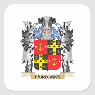 Fairbanks Coat of Arms - Family Crest Square Sticker