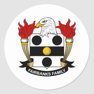 Fairbanks Family Crest Classic Round Sticker