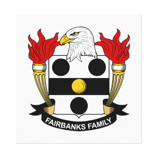 Fairbanks Family Crest Stretched Canvas Print