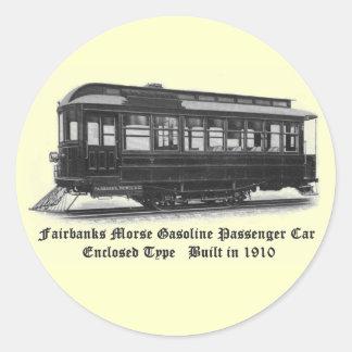 Fairbanks Morse & Company Car #24 Classic Round Sticker