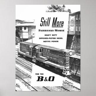 Fairbanks Morse Diesel Locomotives 1957 Poster