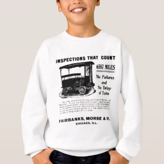 Fairbanks Morse Track Inspection Motor Car 1907 Sweatshirt