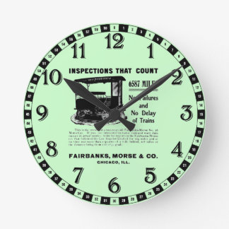 Fairbanks Morse Track Inspection Motor Car Clock