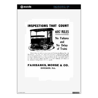 Fairbanks Morse Track Inspection Motor Car iPad 2 Decals