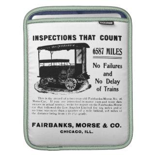 Fairbanks Morse Track Inspection Motor Car iPad Sleeves