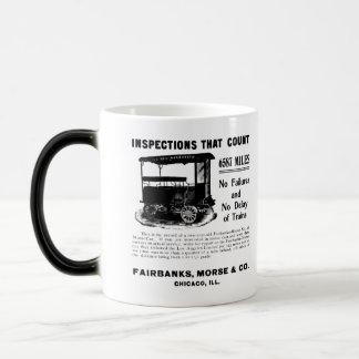 Fairbanks Morse Track Inspection Motor Car Magic Mug